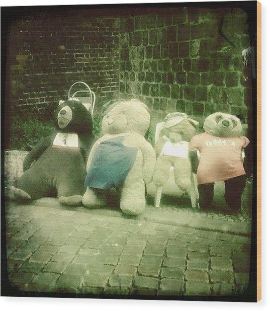 #berlin #teddy #bear #bär #igersberlin Wood Print