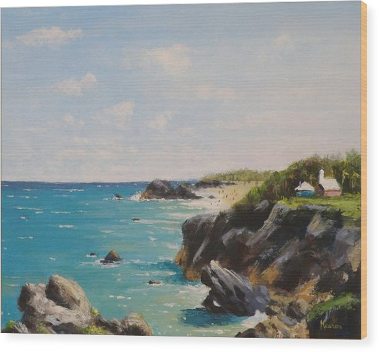 Bermuda Coast Wood Print by Thomas Kearon