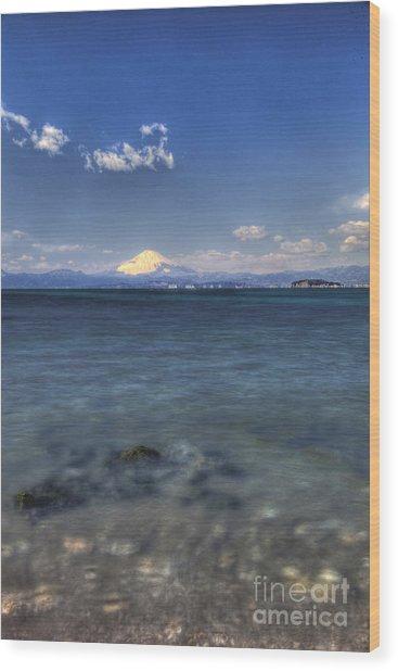 Beyond Sea Wood Print