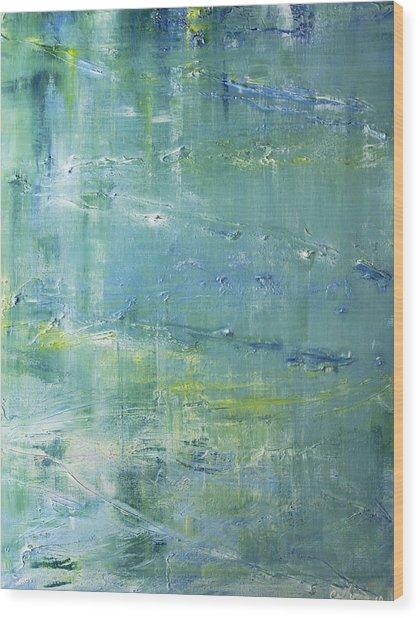 Beyond The Pond Wood Print