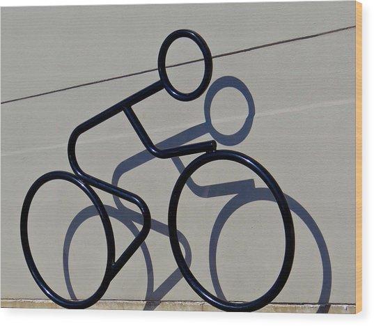 Bicycle Shadow Wood Print