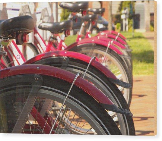 Bicycles Wood Print