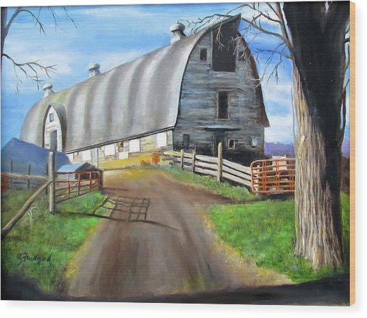 Big Barn At Kripplebush Wood Print