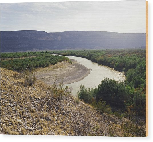 Big Bend Park Overlooking The Rio Grand River Wood Print