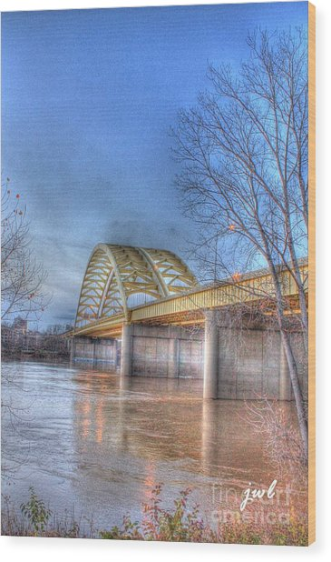 Big Mac Bridge Wood Print