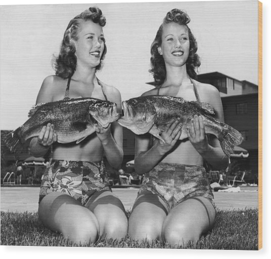Big Mouth Billy Bass Wood Print by Archive Photos