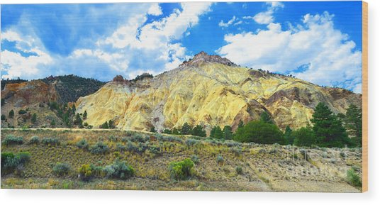 Big Rock Candy Mountain - Utah Wood Print