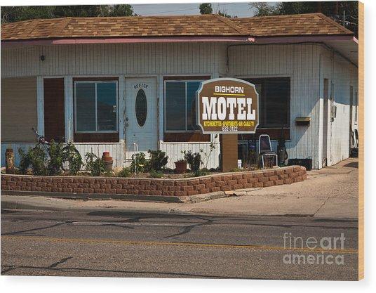 Bighorn Motel Wood Print