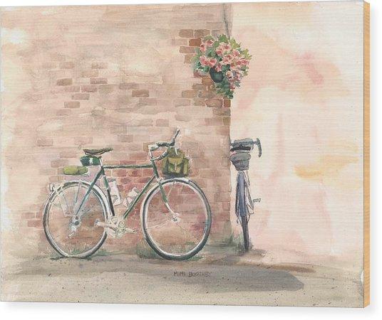 Bike Date Wood Print