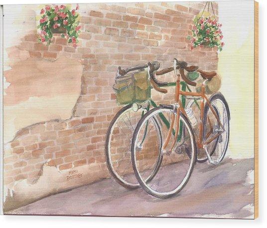 Bike Date Two Wood Print
