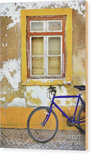Bike Window Wood Print