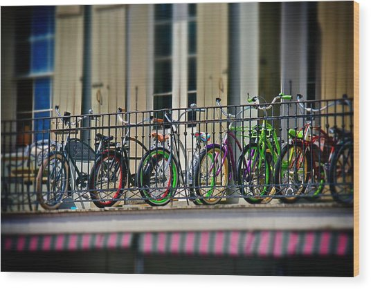 Bikes On Top Wood Print