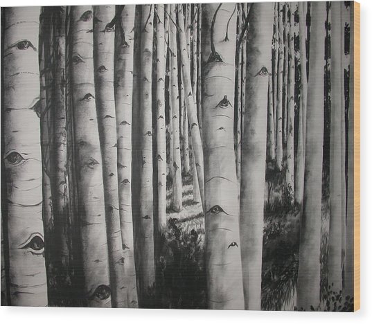 Birch Wood Print by Scott Robinson