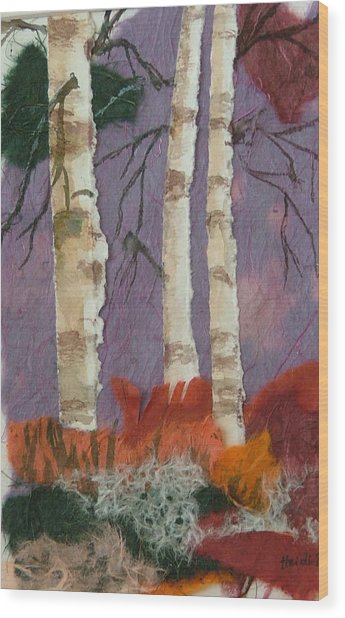 Birch Trio Wood Print