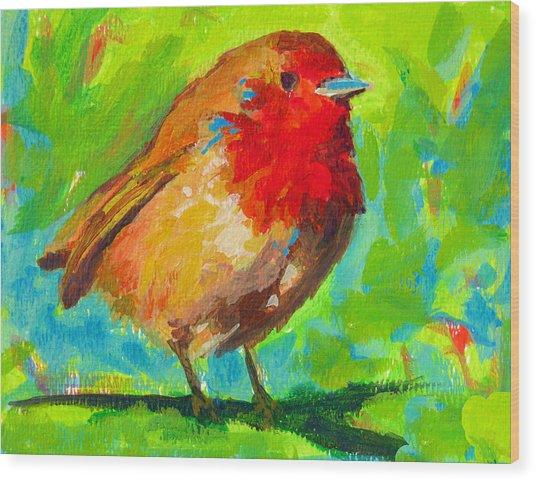 Birdie Bird - Robin Wood Print