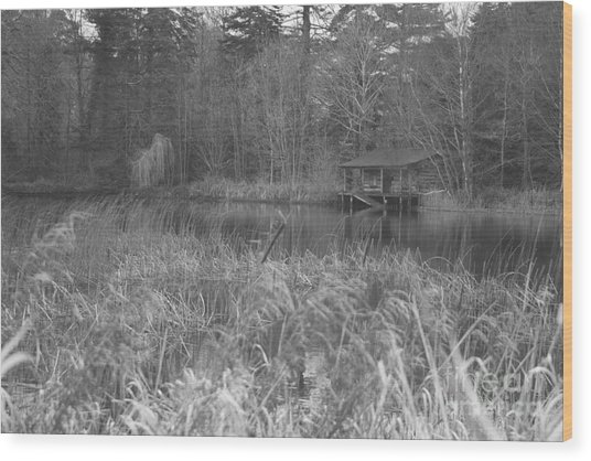 Birr Boathouse Wood Print by Mike  Connolly