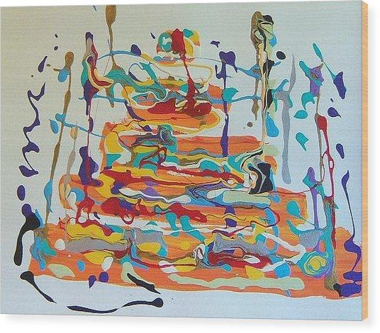 Birthday Wood Print by Helene Henderson