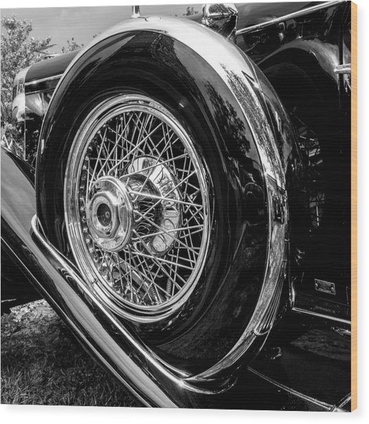 Black And Chrome Wood Print by Ralph Brannan