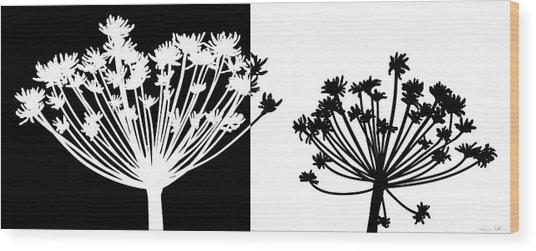 Black And White Wood Print by Nomi Elboim