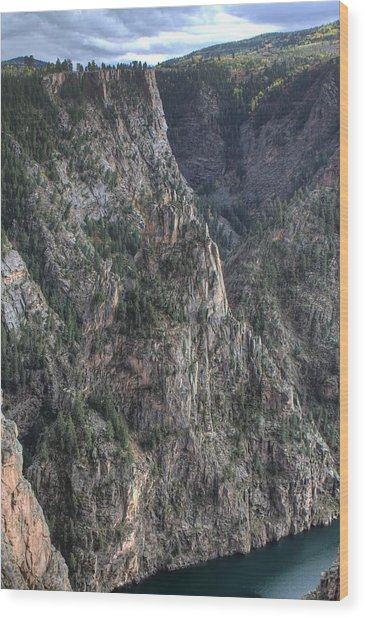 Black Canyon Of The Gunnison National Park Wood Print by Farol Tomson