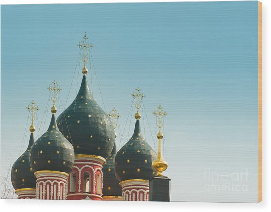 Black Domes Wood Print by Boris Suntsov