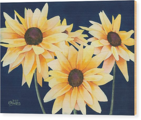 Black Eyed Susans 2 Wood Print