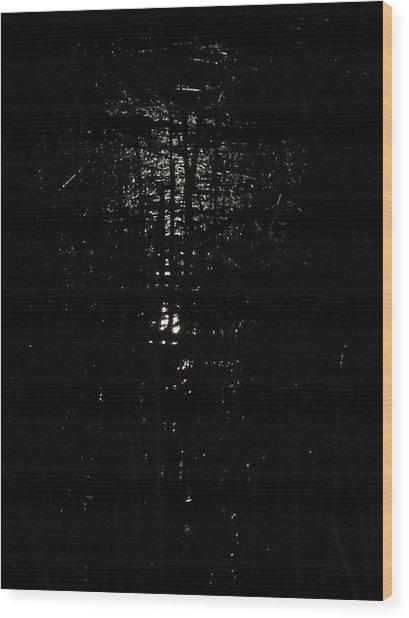 Black Night Wood Print