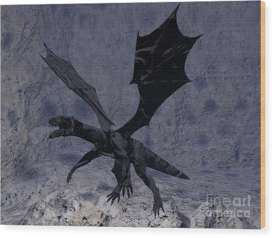 Black Vengeance Wood Print by Tea Aira