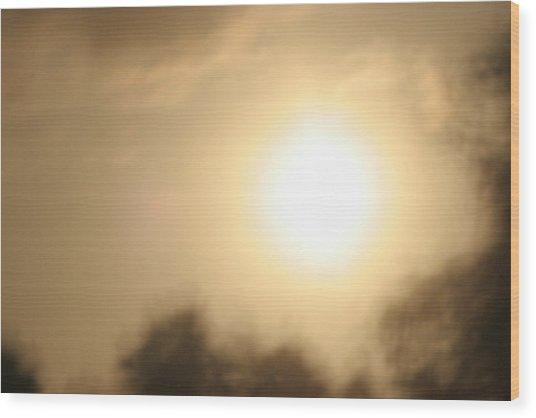 Blazing Heat Wood Print by Artist Orange
