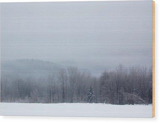 Bleak Mid-winter Wood Print