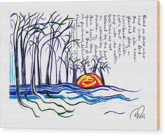 Blessed Are Those Wood Print by Carol Rashawnna Williams