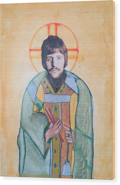 Blessed Ringo Wood Print by Philip Atkinson