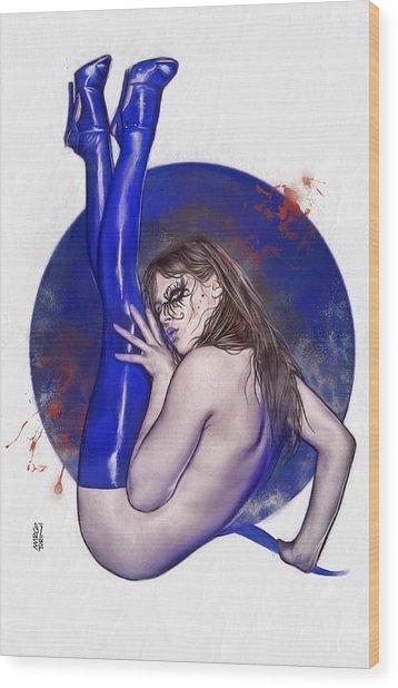 Bloody Girl 2 Wood Print by Marco Turini