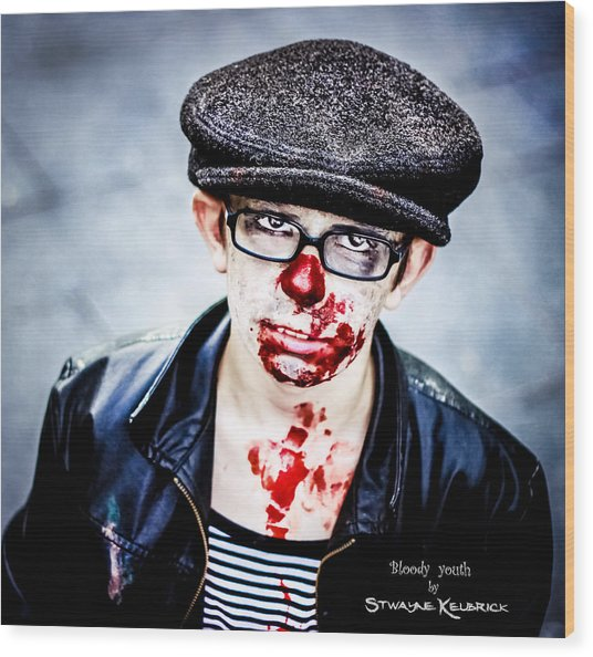 Wood Print featuring the photograph Bloody Youth by Stwayne Keubrick