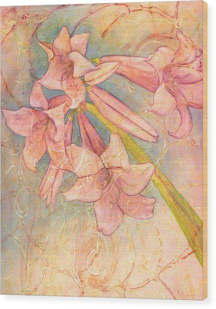 Blooming Above Wood Print by Sara Bell