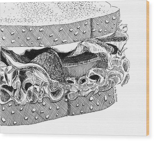 Blt Sandwich Wood Print