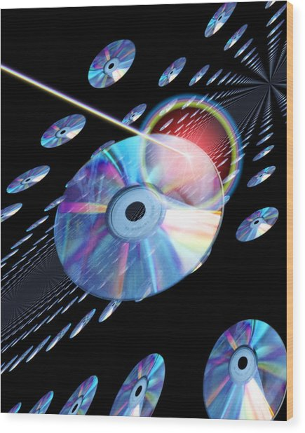 Blu-ray Discs Wood Print by Victor Habbick Visions