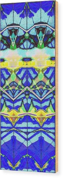 Blue 3 10 Wood Print