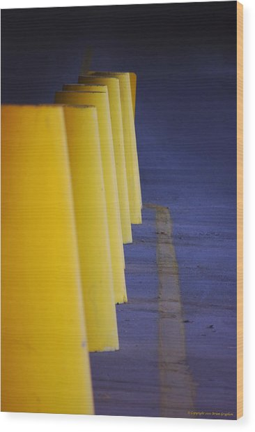 Blue And Yellow Wood Print
