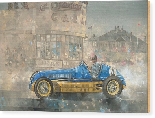Blue And Yellow Maserati Of Bira  Wood Print