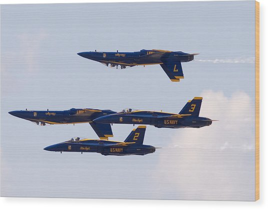 Blue Angels Wood Print by Zannie B