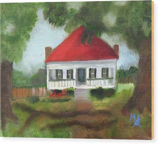 Blue Berry Farm In Clinton Wood Print