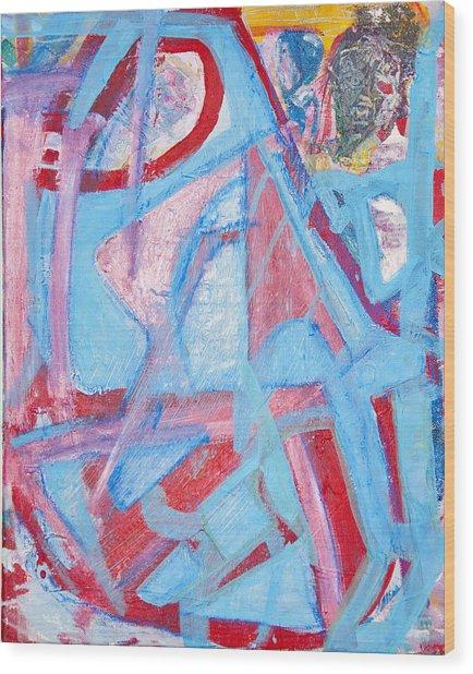 Blue Bin  Wood Print by Brooks Blackwood