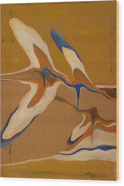 Blue Birds Wood Print by Devin Roberts