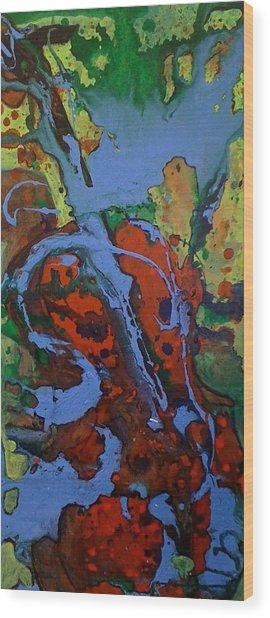 Blue Cello Wood Print