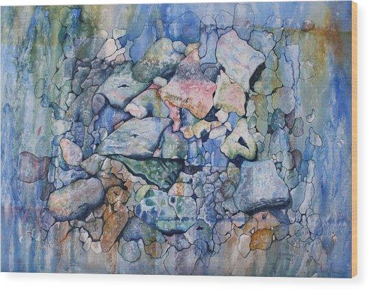 Blue Creek Stones Wood Print