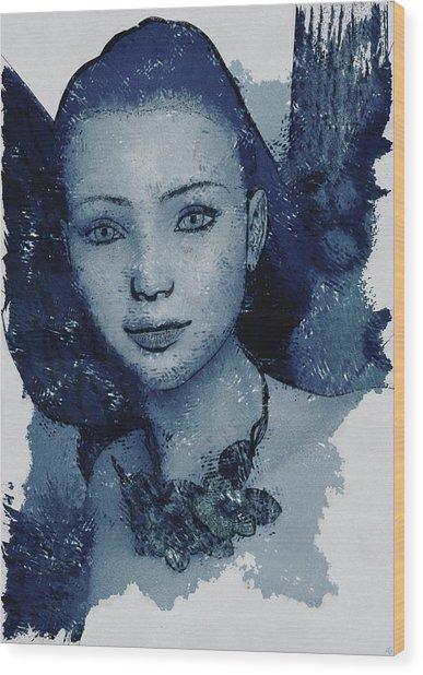 Blue Fae Wood Print