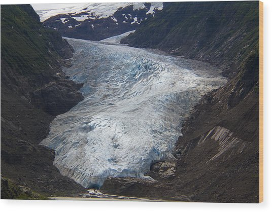 Blue Glacier Wood Print by Kim French