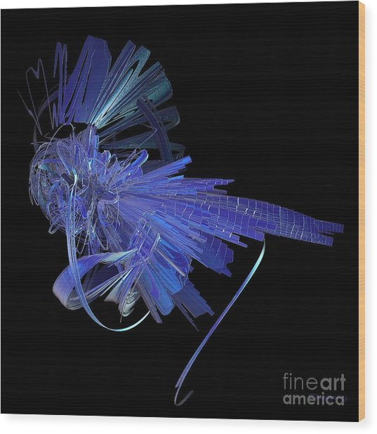 Blue Glass Hopper Wood Print