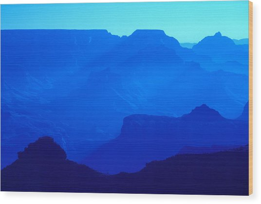 Blue Grand Canyon Wood Print